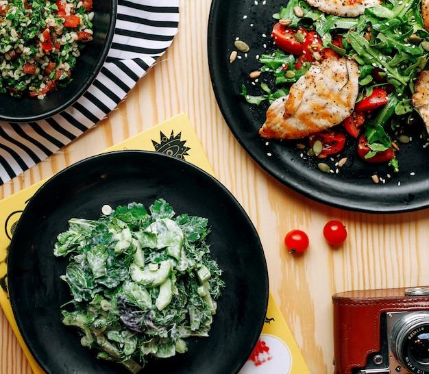 野菜とハーブの揚げ肉
