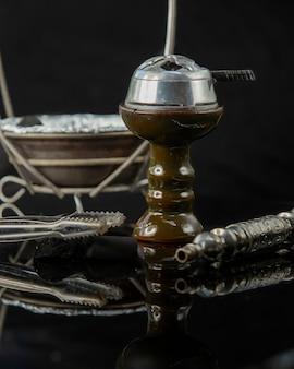 Кусочки кальяна угольный шар и труба