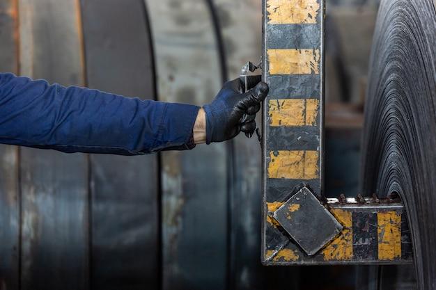 製鉄工場での作業工程