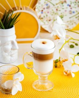 コーヒーカフェラテ側面図