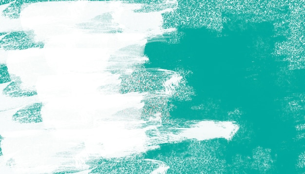 白いブラシの背景を持つ緑の壁