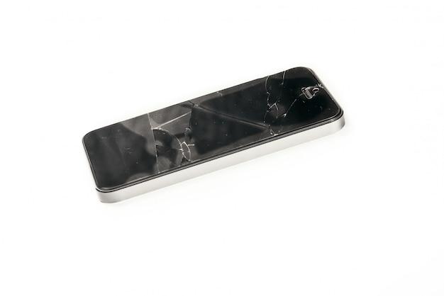 携帯電話の壊れたガラススクリーン