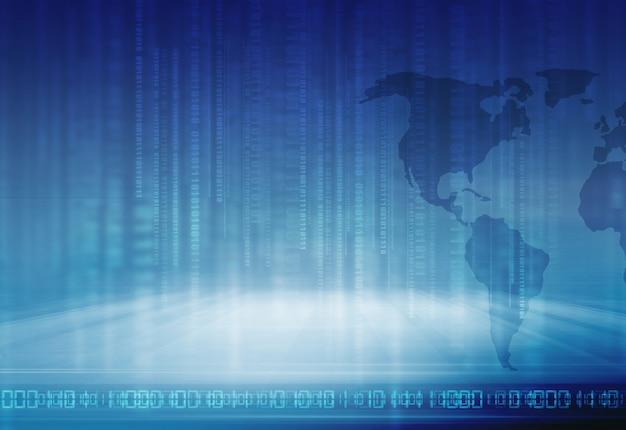 デジタル技術背景バイナリコード文字列