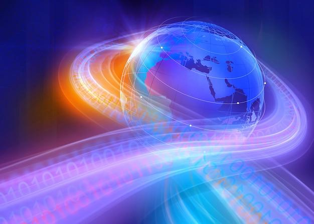 グラフィカルなデジタルバイナリ世界の背景