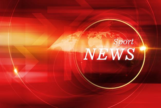 レンズフレアとグラフィカルなスポーツニュースの背景