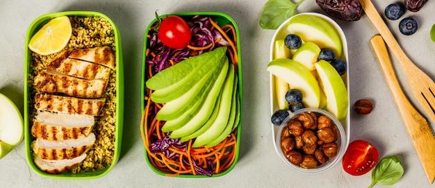 Здоровый обед в коробках