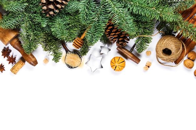Рождественские приготовления фона - пространство для вашего текста