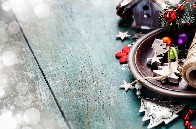 クリスマスのお祝いデコレーション