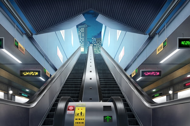 Станция метро - ночь