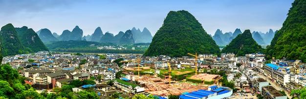 緑の田舎の旅行自然な中国の中国