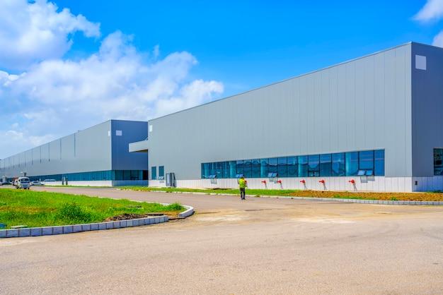 工業団地、工場ビル、倉庫