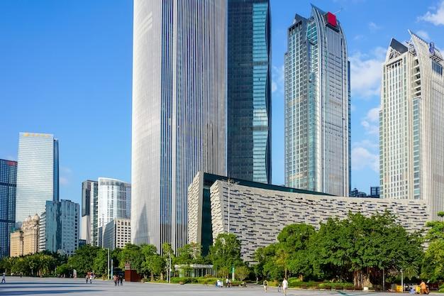 Китай город река бизнес-вид