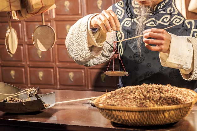歴史的な穏やかな反射中国伝統