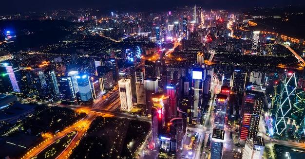 深センの都市建築の鳥瞰図