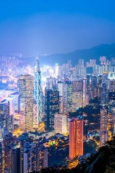 香港の街並みと建築景観
