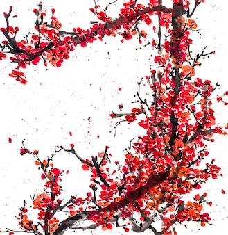 Цветочный ботаника китайский пейзаж природа фестиваль