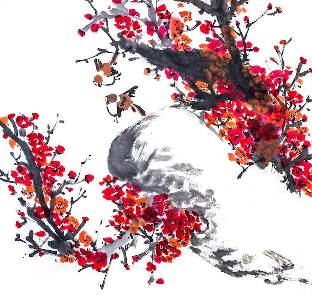 Рисунок рыба японский вода графический характер