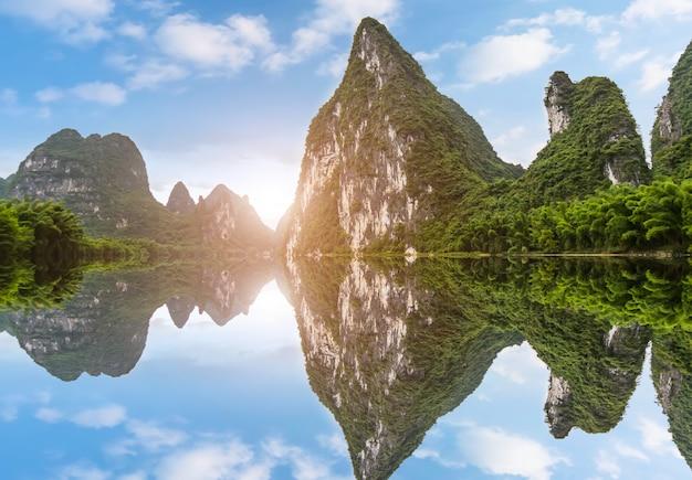Красивый пейзаж гуйлиня, гуанси