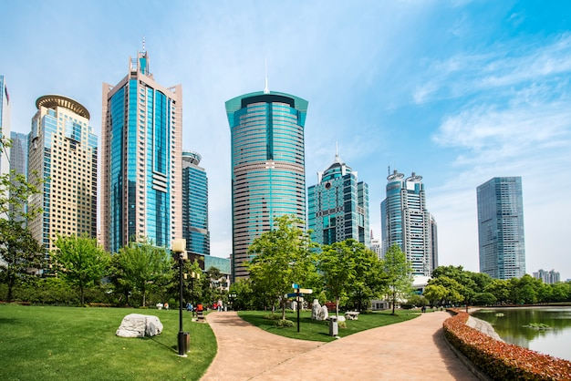 Небоскребы в финансовом районе шанхая, китай