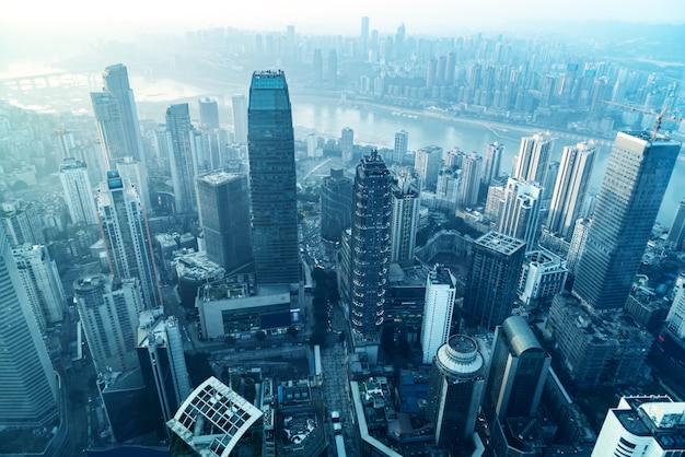 Аэрофотосъемка чунцин городской архитектуры горизонта