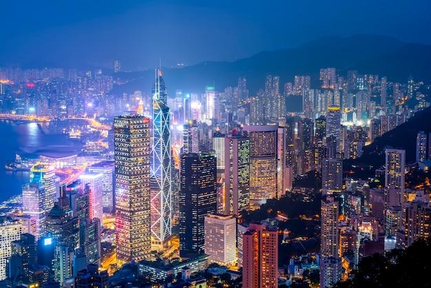 香港の美しい夜景