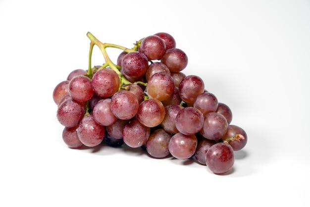 分離された紫色のブドウ