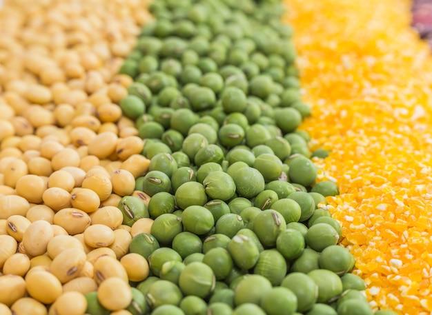 Зерно полное изобилие цельные продукты горох