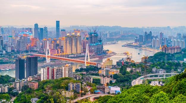 床の外観香港の技術都市近代