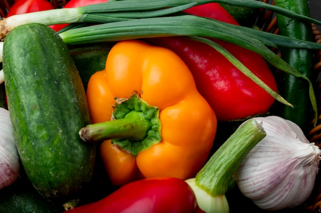 野菜のクローズアップビュー