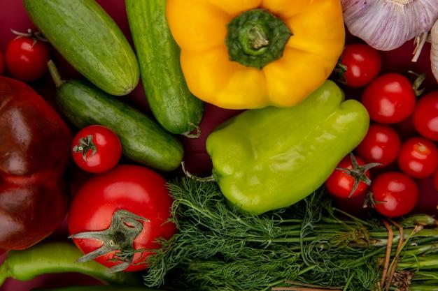 野菜のクローズアップ表示