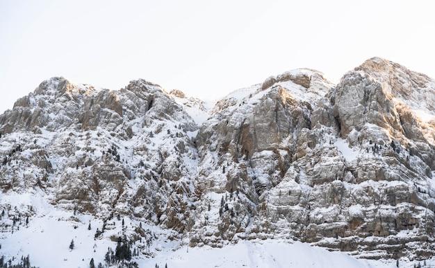 アルプスの山々の雪