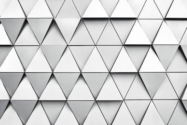 菱形とノードを持つ銀の幾何学的な背景。