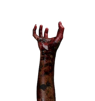 Рука зомби. концепция темы хэллоуина.