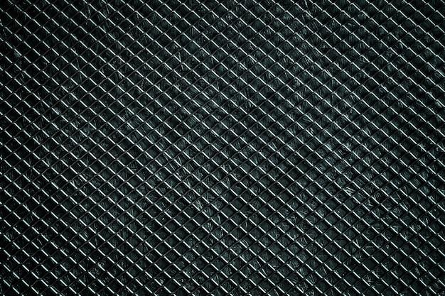 黒い金属グリッド、抽象的な背景