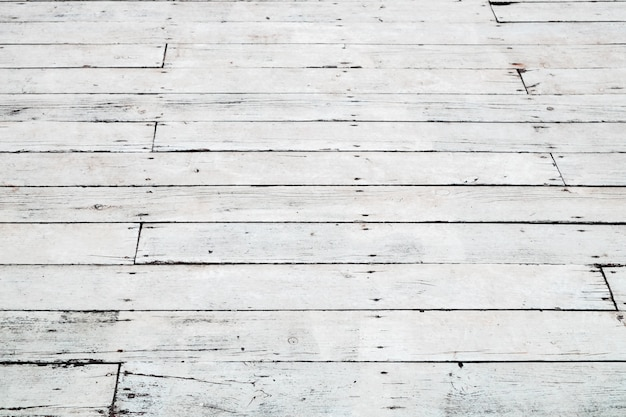 Белый деревянный фон. текстура старого пола. перспективный вид