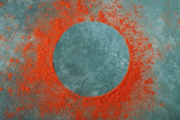 Круглая рамка из красного перца