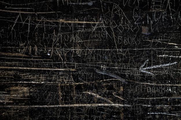 Поцарапанный черный текстурированный фон