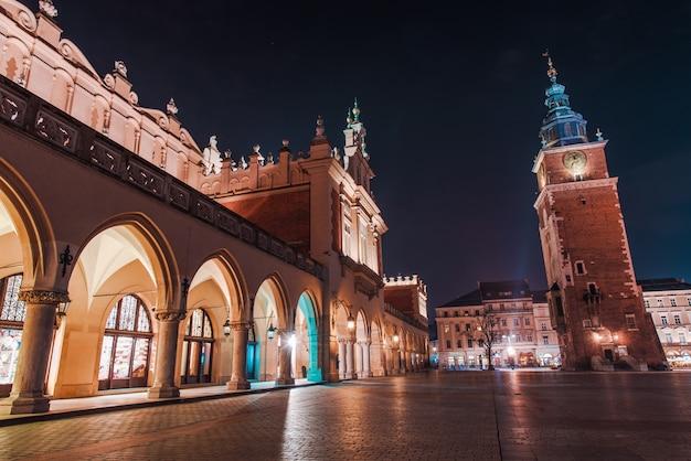 Красочная краковская ночь
