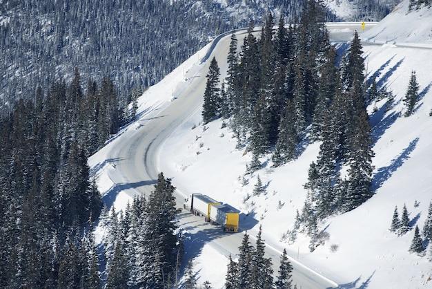 危険な冬の道