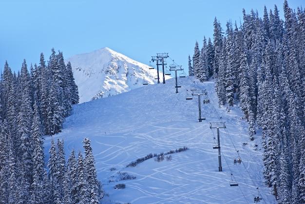 スキースロープコロラド州