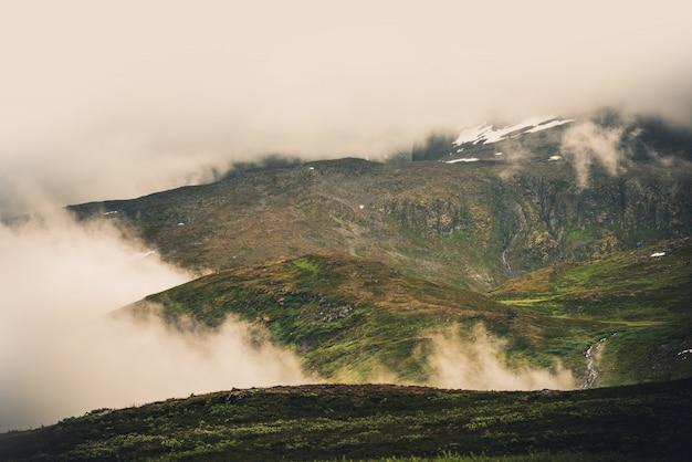 Туманные норвежские горы