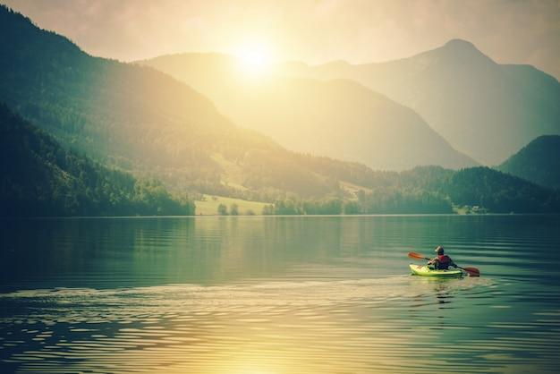 Озеро каяк туринг