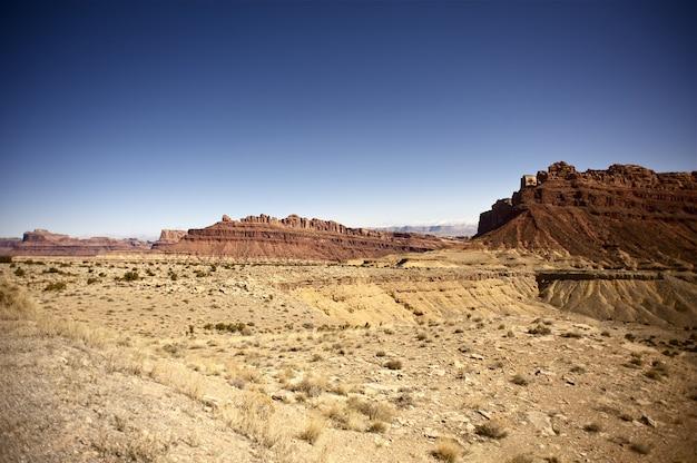 ユタ州の砂漠と岩
