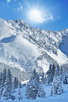 冬アルプスの風景