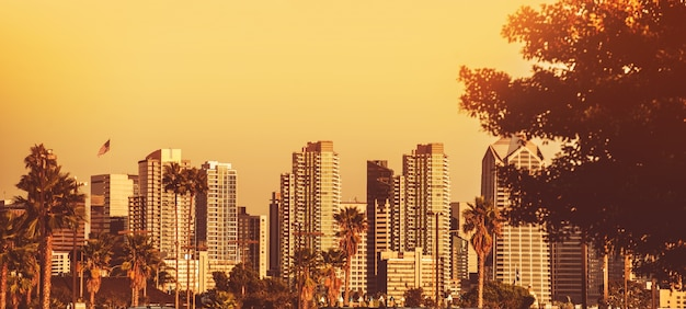 サンディエゴのサンセットパノラマ