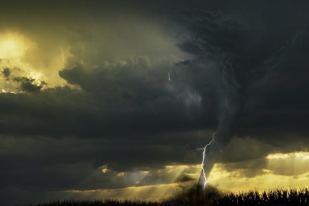 Вспышка торнадо