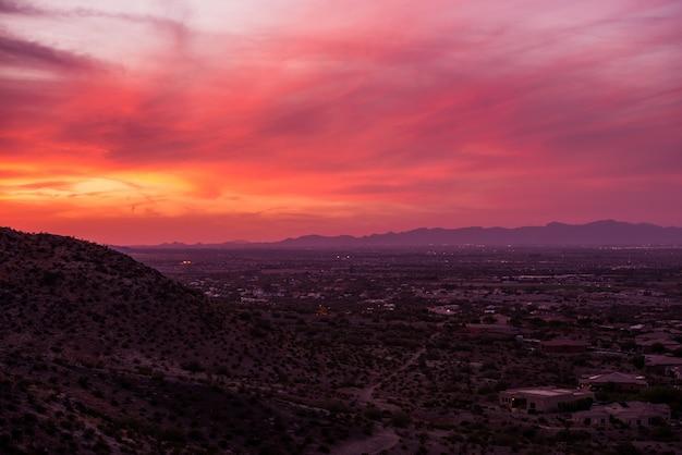 アリゾナの夕焼け風景