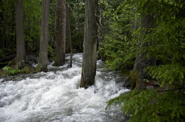 Переливной горный поток