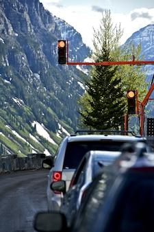 一時的な交通信号灯