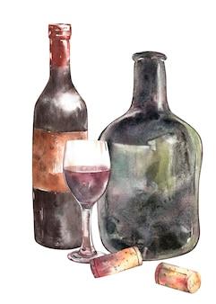 Композиция с винной бутылкой